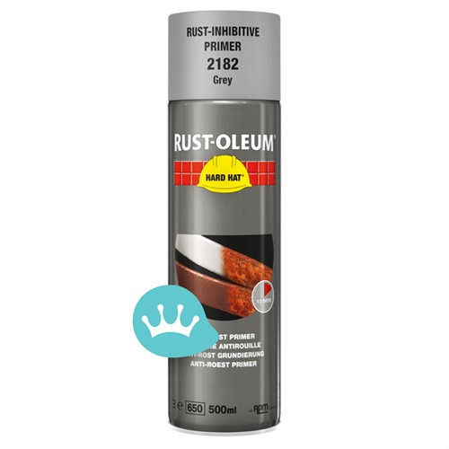 Rust-Oleum Hard Hat Anti-Roest Primer (2182) - Grijs - 500 ml