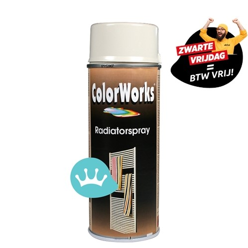 Motip Colorworks - Radiatorlak - Gebroken Wit  - 400 ml